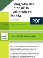 Radiografía del sector de la traducción en España (Dorothee Orf y Melchor Fernández)