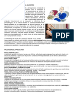 PSICOLOGIA Y SU APLICACIÓN