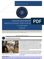 Kansas Intelligence Fusion Center - Lessons Learned