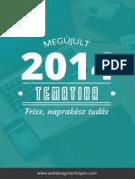 60d371b15539 Online Webdesign Tanfolyam 2014 tanfolyam tematika