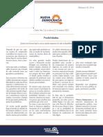 Nueva Democracia-Nota de Coyuntura 2 (Febrero 2014)