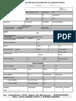 Ficha de Financiamento