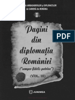 Pagini din diplomaţia României