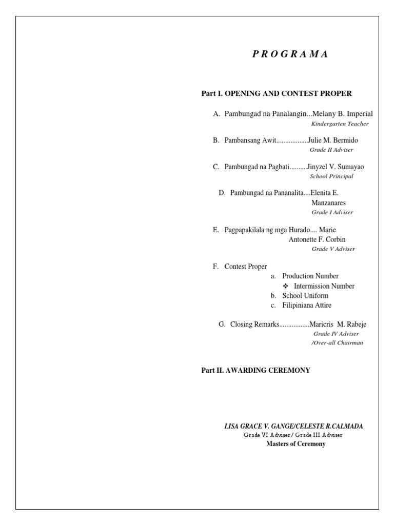Top Twelve Halimbawa Ng Agenda Para Sa Buwan Ng Wika {Kwalai}