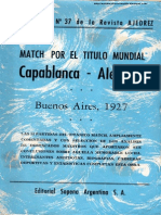 Match por el Título Mundial Capablanca - Alekhine 1927