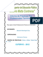 Informe de Enfermeria de Elva 2011