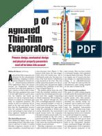 Scaleup of agitated Thin-Film Evaporator