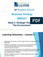 Business Strategy Strategic Position Week 2