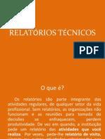 Comunicaçã Ténica - RELATÓRIOS