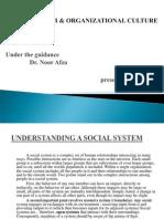 Social System & Org Culture-mallika a n