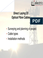 I Direct Burial & Plough in of of Cables