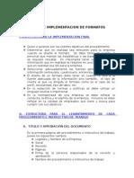 DISEÑO E IMPLEMENTACION DE FORMATOS