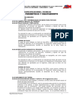 Especificaciones Tecnicas Cerco Perimetrico y Equipamiento