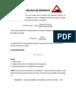 CÁLCULO DE LA PENDIENTE