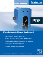 Buderus G115 Oil Fired Hot Water Boiler Brochure