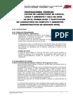 Especificaciones Tecnicas Construccion de Laboratorio de Ciencia Tec y Ambiente
