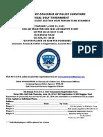 2014 Genesee Valley Concerns of Police Survivors Golf Tournament Flyer