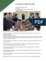 North and South Korea hold rare high-level talks