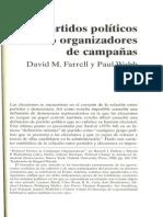 Los partidos politicos como organizadores de campañas