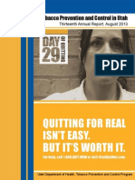 Tobacco Prevention and Control in Utah Thirteenth Annual Report, August 2013