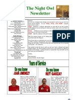 Night Owl Newsletter