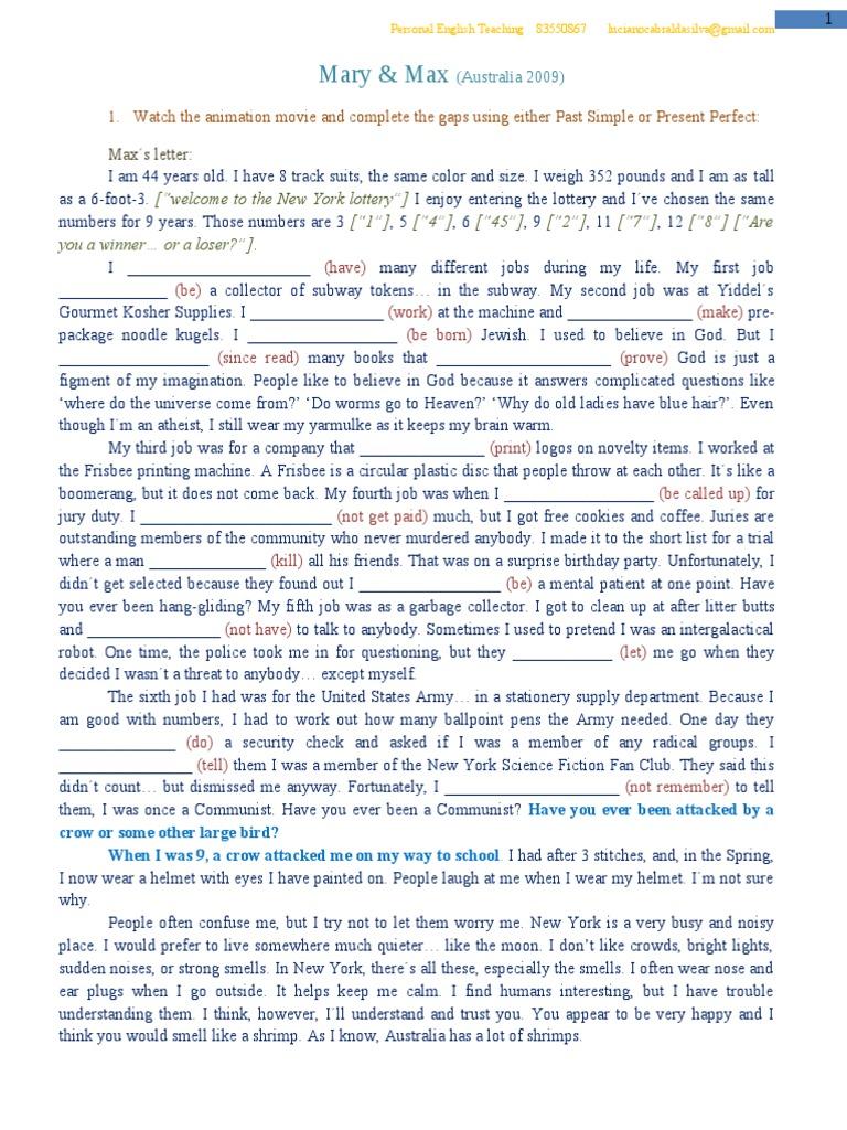 Mary Max Script 18 33