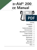 Cardio Aid200 Artema Service Manual