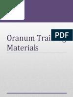 Oranum Training Materials 2013 April