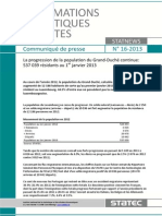 Luxembourg Demographic Report 2013