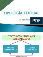 TIPOLOGÍA TEXTUAL Prof. PABLO.ppt