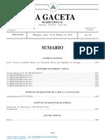 Ley Nº.854 - Ley de reforma parcial a la Constitución Política de la República de Nicaragua, febrero 2014