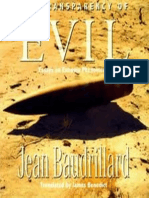 essay evil extreme phenomenon transparency The transparency of evil: essays on extreme phenomena jean baudrillard verso (1993)  the problem of evil: essays on cross-cultural perspectives  is all evil.