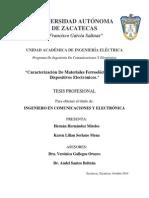 Caracterización de materiales ferroeléctricos (1)