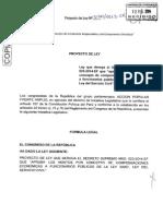 PL que deroga el Decreto Supremo N° 023-2014-EF que aumenta el monto de remuneraciones a ministros de estado y demás altos funcionarios públicos