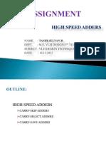 High Speed Adders