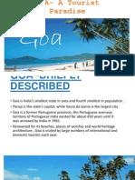 GOA- A Tourist Paradise