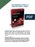 Su Estudio Domestico Para La Produccion de Audio y Video