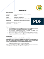 Plan Anual de Informatica PDF