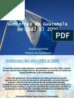 Gobiernos de Guatemala de 1982 Al 2000