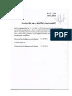 Scrisoare Modificare Termen de Prezentare a Ofertelor