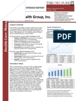 UnitedHealth Group, Inc. Initiating Coverage Report