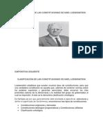 CLASIFICACIÓN DE LAS CONSTITUCIONES DE KARL LOEWENSTEIN