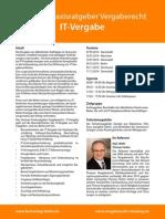 Seminar Praxisratgeber Vergaberecht - IT-Vergabe
