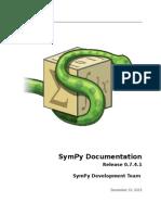Sympy Docs PDF 0.7.4.1