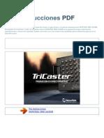 Manual de Instrucciones NEWTEK TRICASTER S