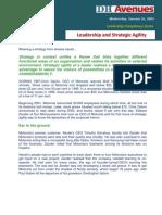 Leadership and Strategic Agility