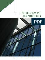 Programme Handbook