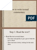 How to Write Textual Commentary