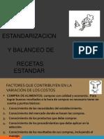 Estandarizacion y Balanceo de Recetas Estandar