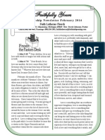 Faith Lutheran's February 2014 Newsletter